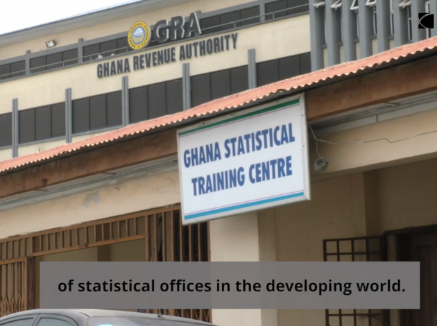 Ghanaian Statistical offices (screenshot from the international development video)