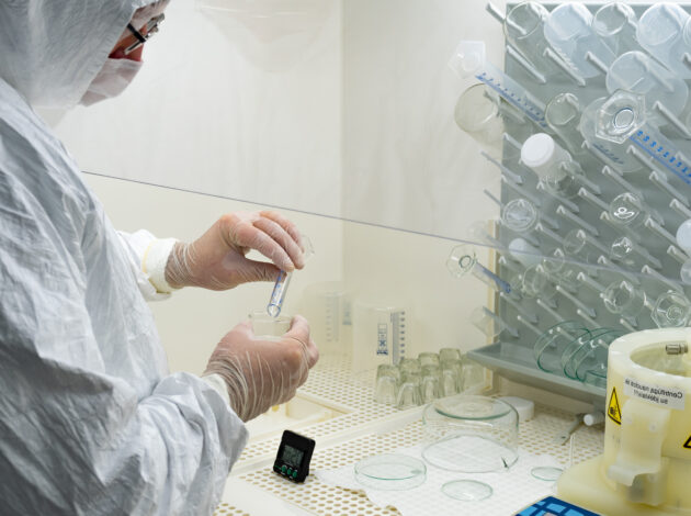 Generic image of person using lab equipment